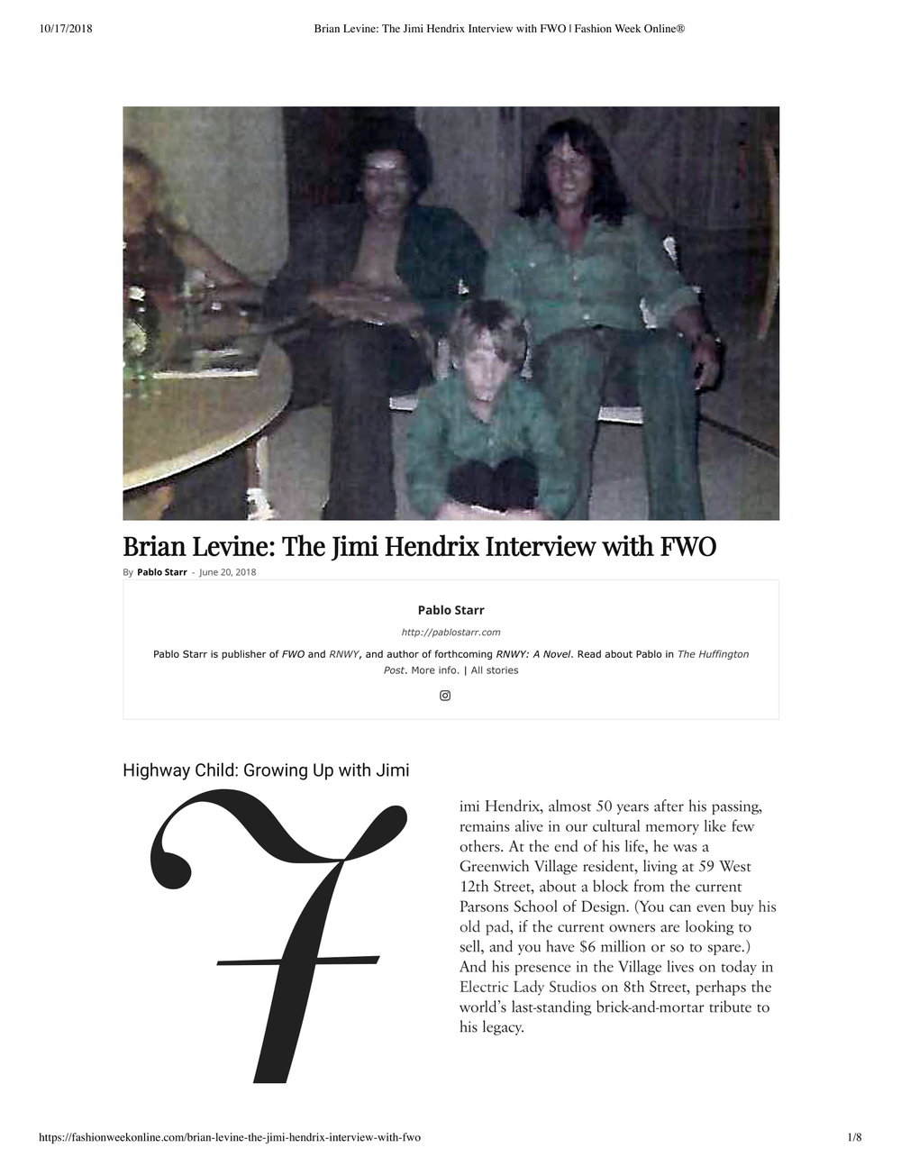 Brian Levine_ The Jimi Hendrix Interview with FWO _ Fashion Week Online®-1.jpg