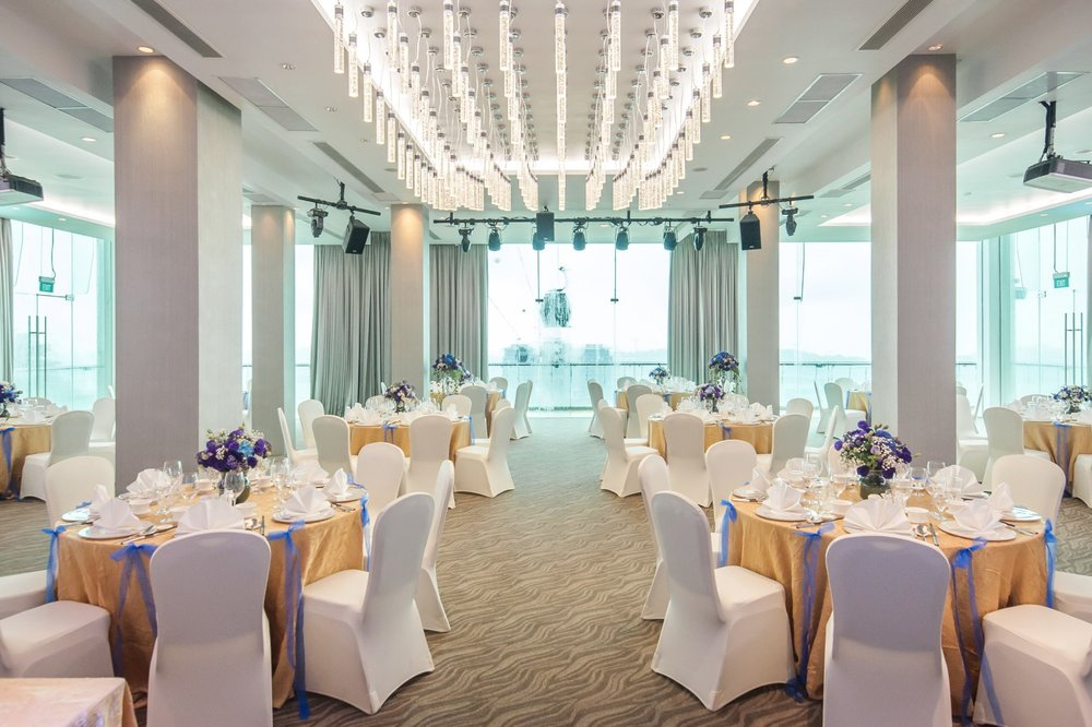 The Ballroom - Equipped with state-of-the-art audio visual and lighting technology, The Ballroom is a versatile space that customises layout for standing receptions, banquets or theatre-style and classroom seating for a variety of events.
