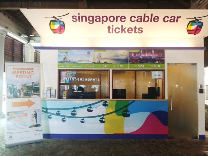 Meeting Point - Look out for our friendly guides at the Sentosa Station Ticketing Counter - opposite Starbucks at Imbiah Lookout Zone.