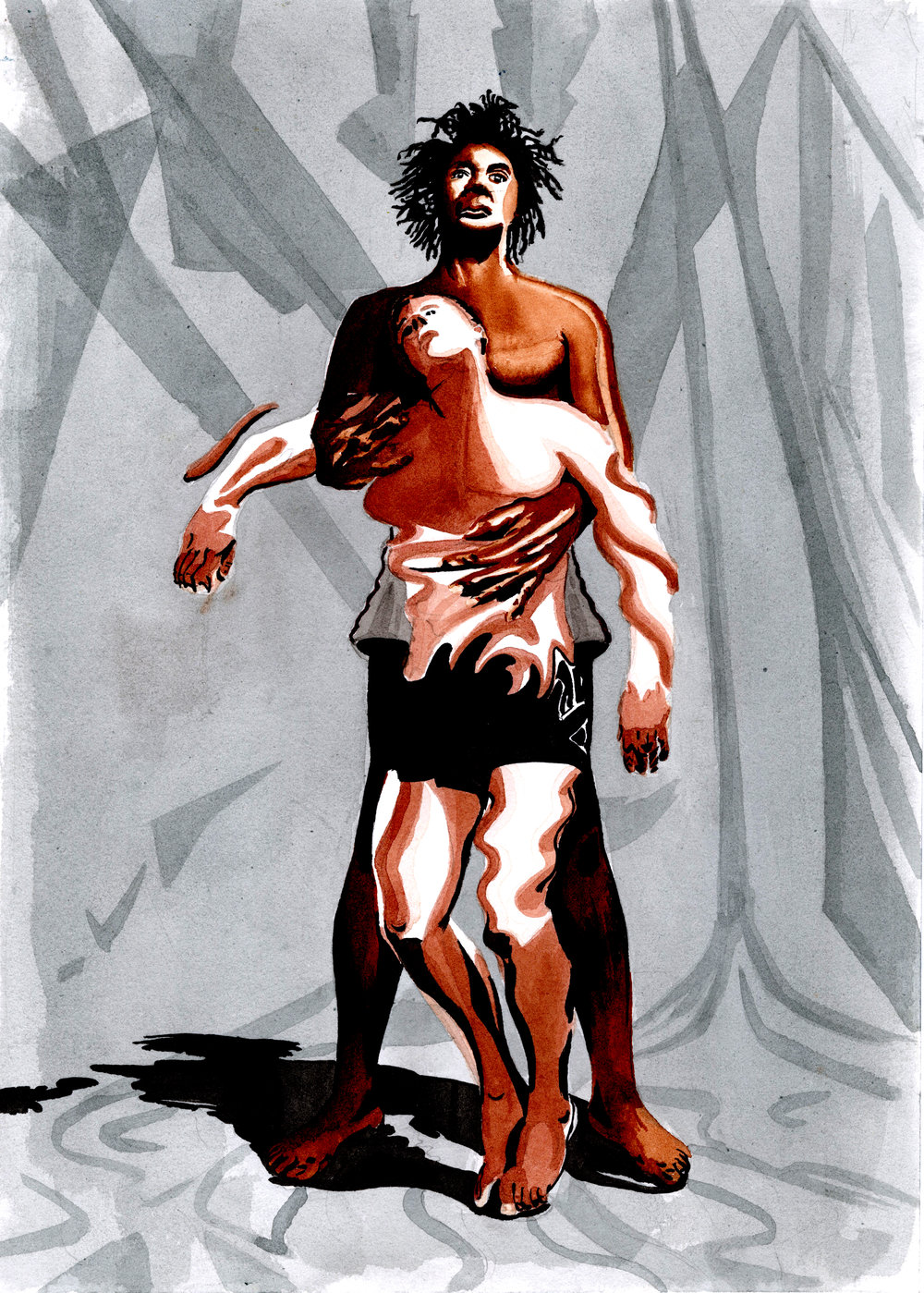 "Literary Illustration for ""Desire & The Black Masseur"" written by Tennessee Williams"