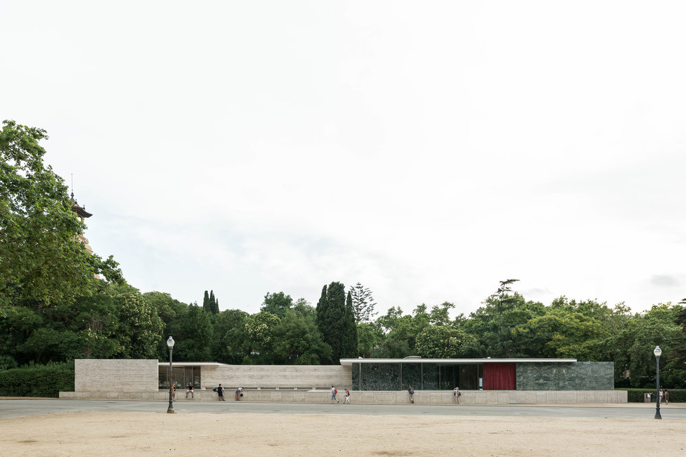 Architectural photograph series of the Barcelona Pavilion. Modernist  German  Pavilion for the  1929 International Exposition  in  Barcelona ,  Spain . Designed by architect Ludwig Mies van der Rohe. By Daniel Walker Photography