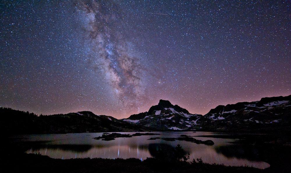 Milky Way over Mt. Banner in California's Ansel Adams Wilderness