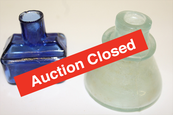 Bottle Online Auction 1 - Auction Closed!Great selection of Antique/Vintage Bottles in various colors. Including medicine and ink bottles, antique flask, mugs and many more historic bottles. Don't miss this opportunity at owning a historic piece!Click here to see more items