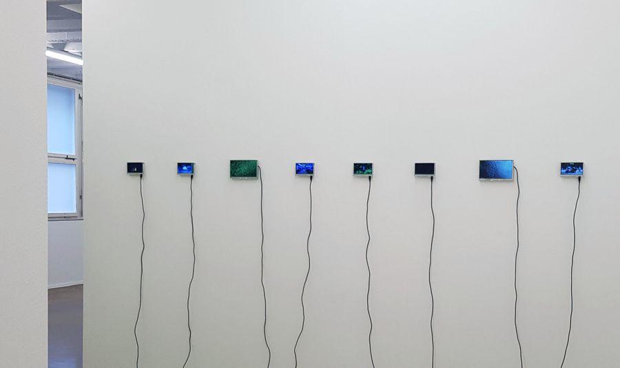 Ansicht «Zeit - eine Sammlung», Kunstraum Baden, 4.3 und 7 Zoll Displays, variabel