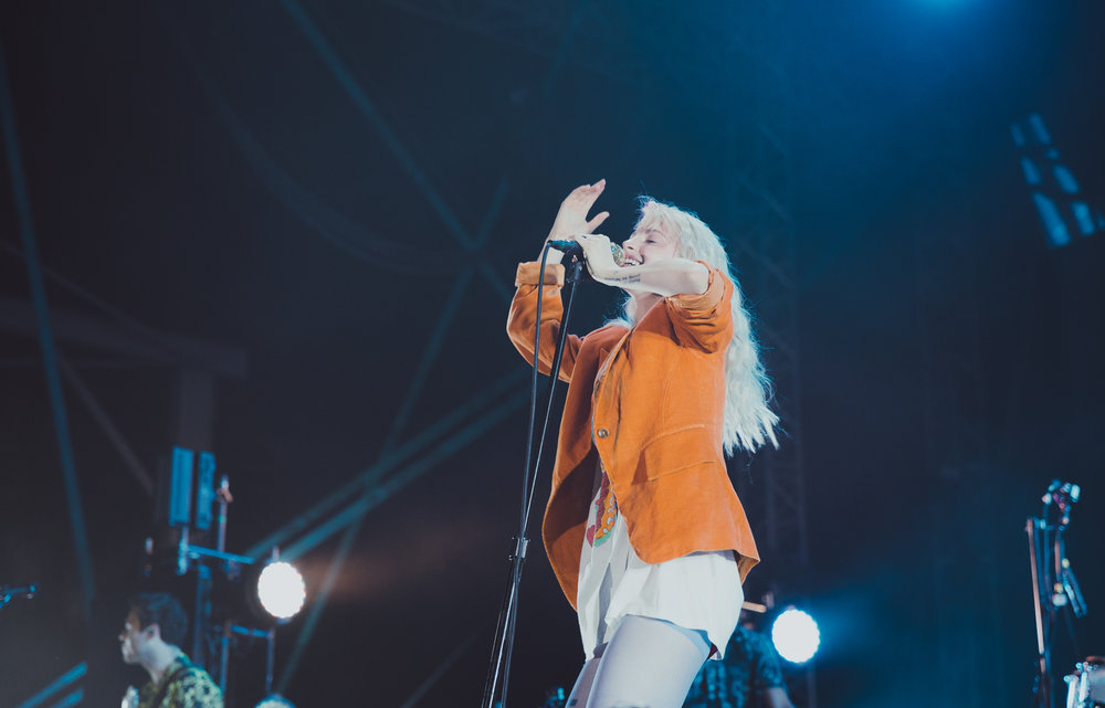 PARAMORE PERFORMING AT CONCRETE STREET AMPHITHEATER IN CORPUS CHRISTI, TX.