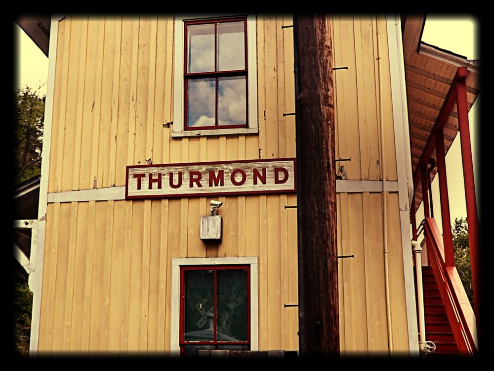 Thurmond Train Station still in use today by Amtrak
