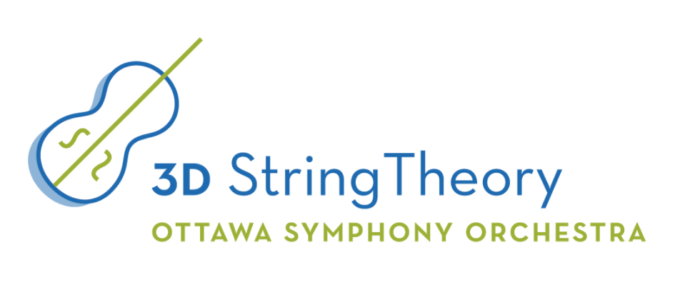 3D String theory logo