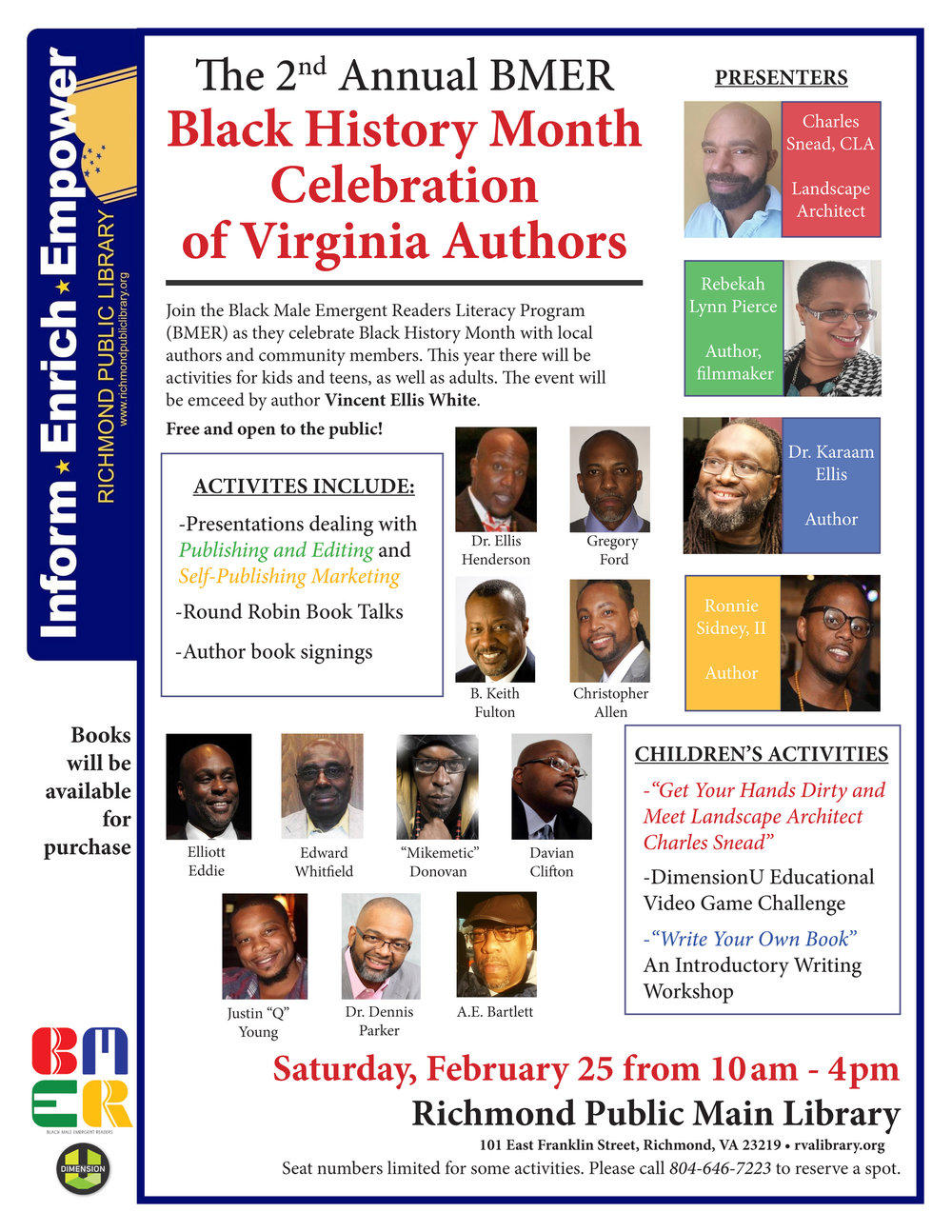 2nd Annual BMER Author Celebration