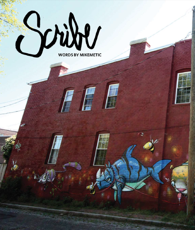 Scribe interview in Art Whino's  Wino Magazine #1