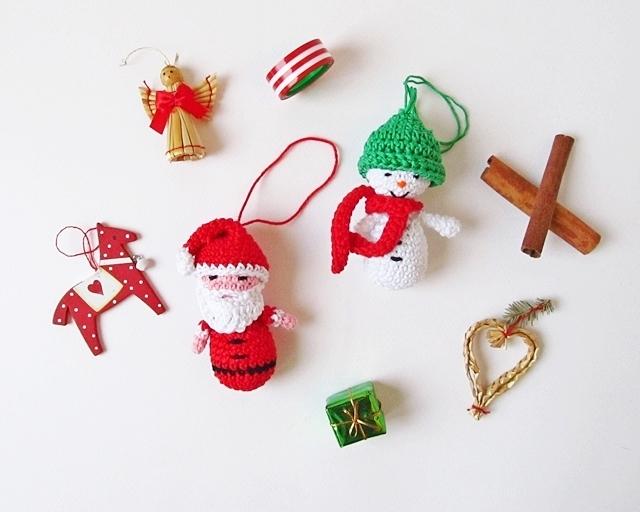 Crocheted Santa Ornament   Hækling, Hæklet jul og Jul   512x640