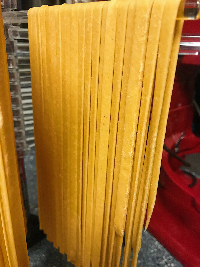 Kitchen Scratch Homemade Paprika Fettuccine Aglio Olio