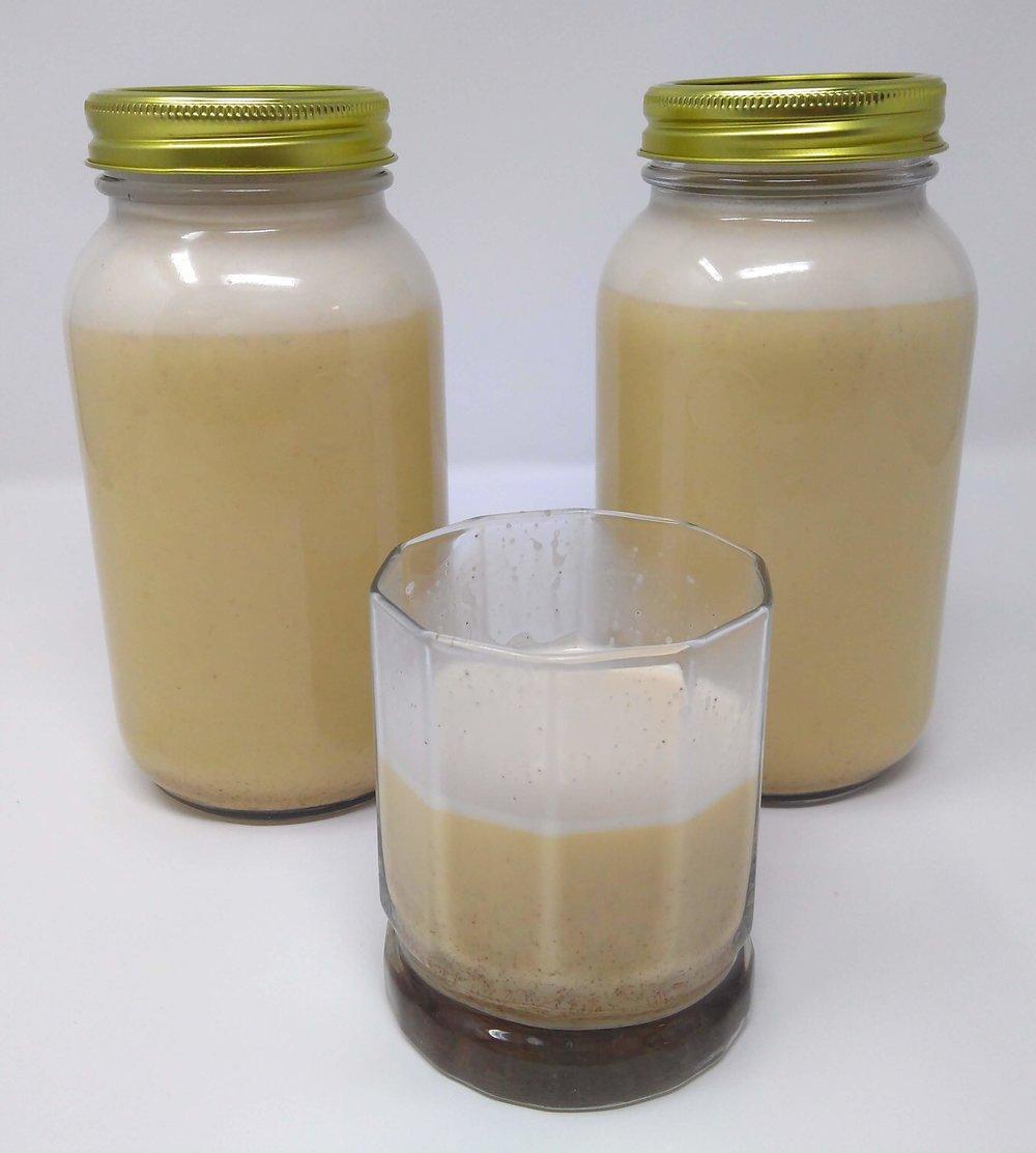 Homemade Cinnamon Vanilla Eggnog - final product
