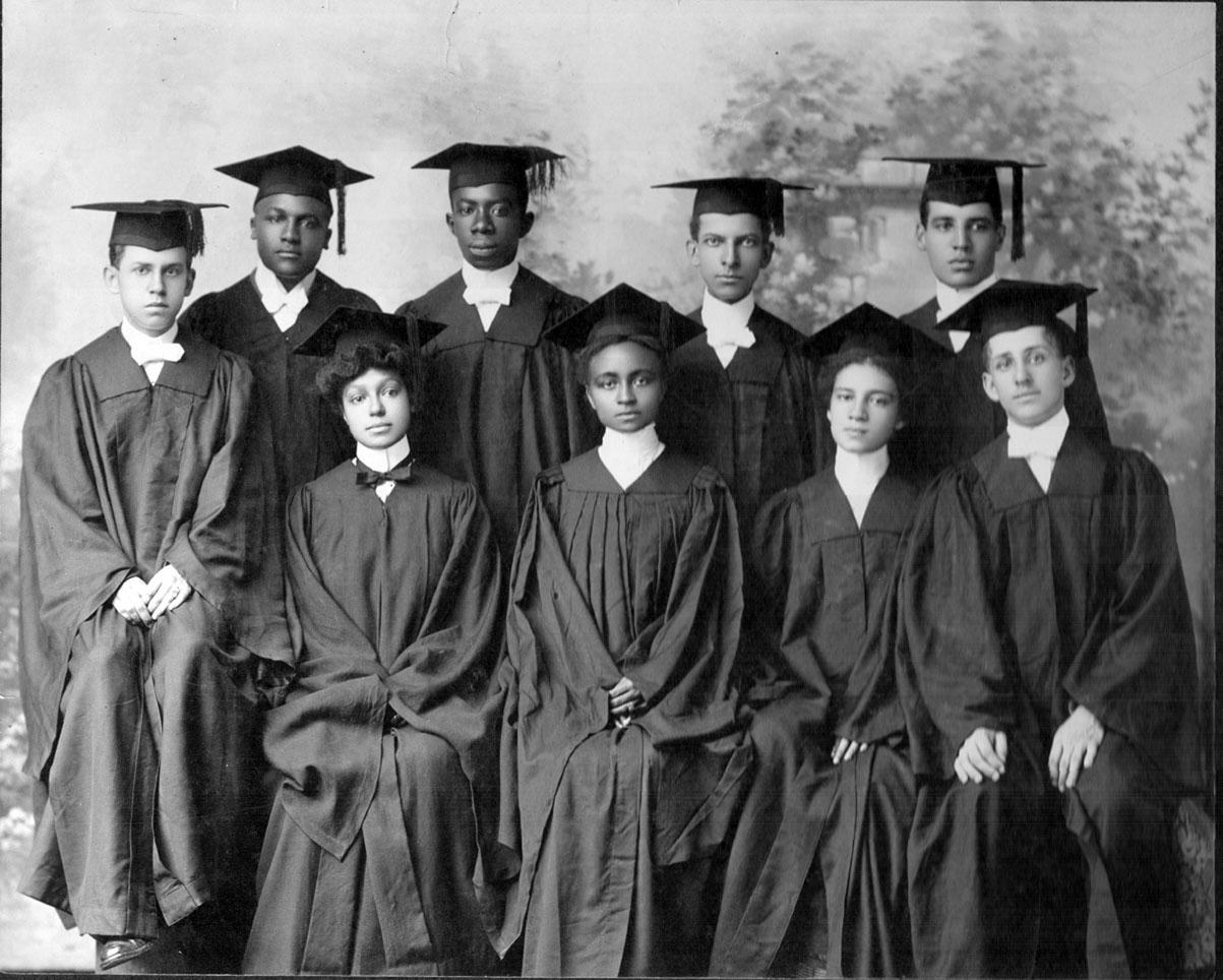 Group of graduated students, men and women at Atlanta University