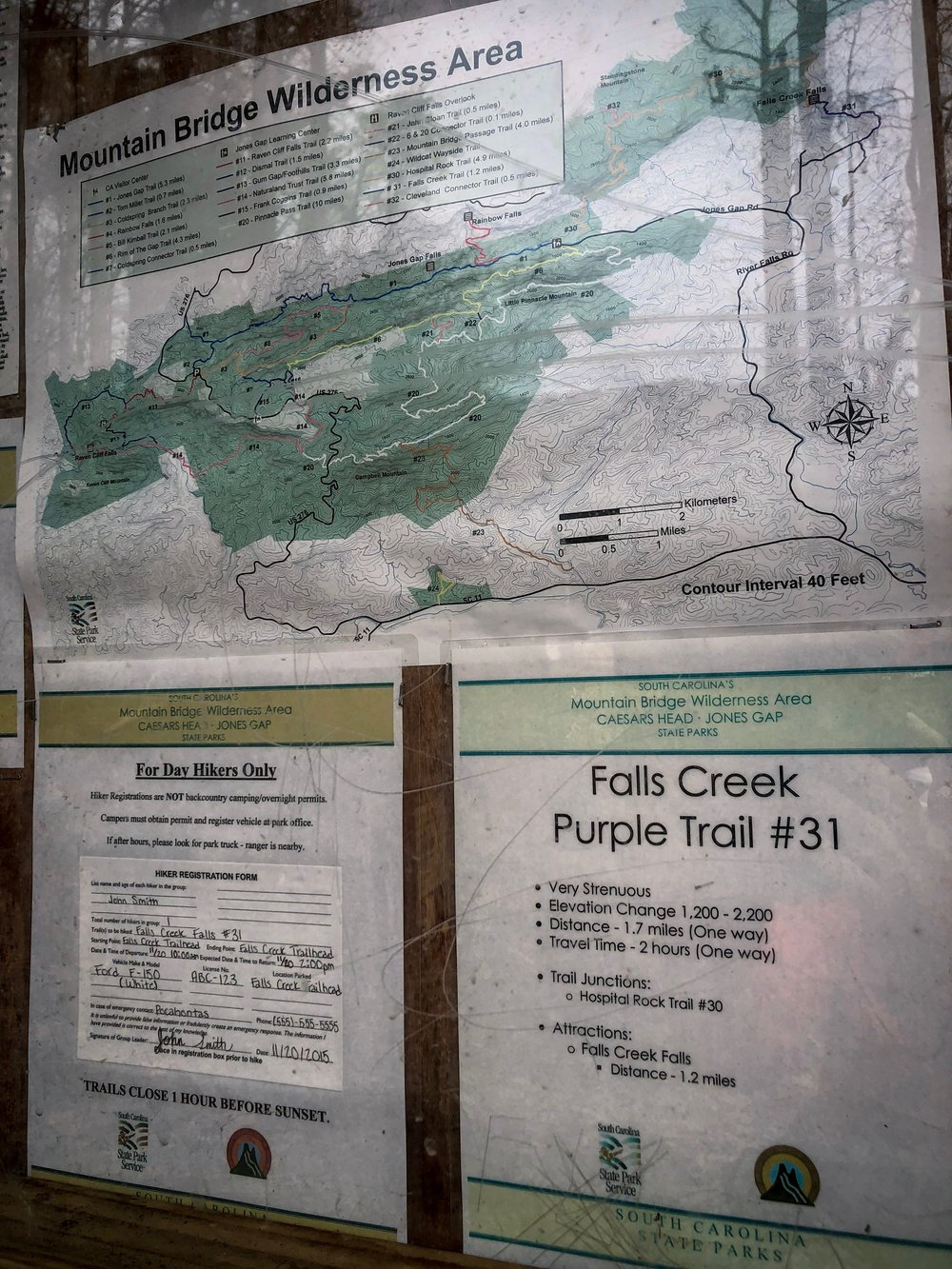 Falls Creek Trail Map
