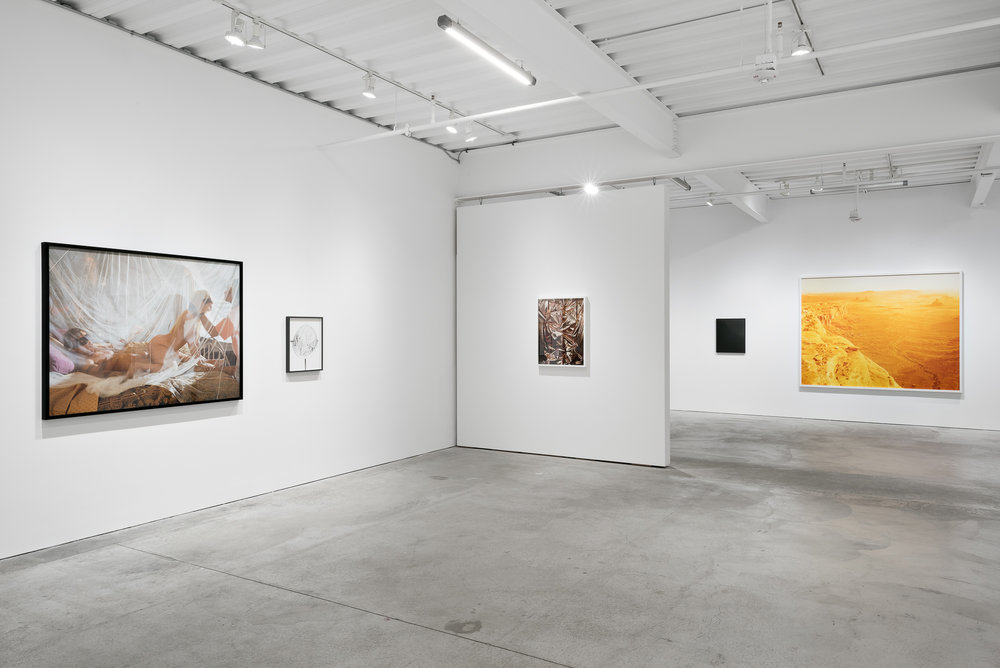 Handless Operative    Installation view, Casemore Kirkeby  Images, left to right: Larry Sultan, Jennifer Brandon, Whitney Hubbs, Awoiska van der Molen, David Benjamin Sherry    Reflect-ing I , 2016 (second from left)  Archival pigment print 20 x 16 inches