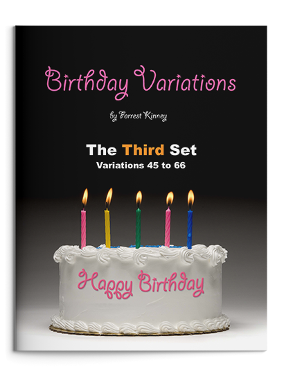 Birthday Variations Third Set Piano Book, Forrest Kinney