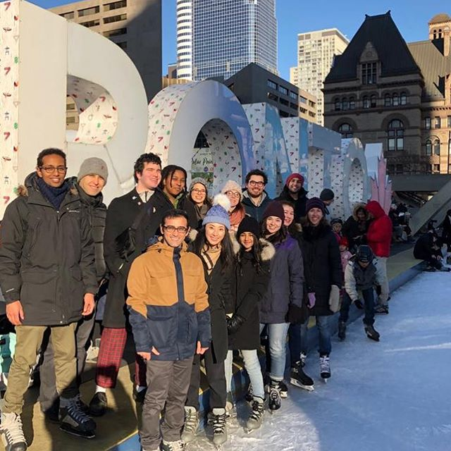 End of the year event #humanofgilbertlab #iceskating #toronto