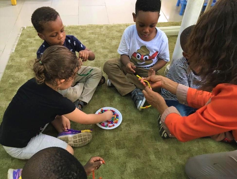 Bead-making in Nursery!