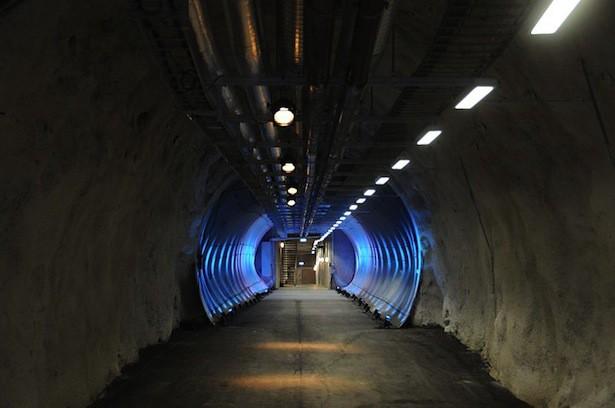 El túnel principal de la bóveda.