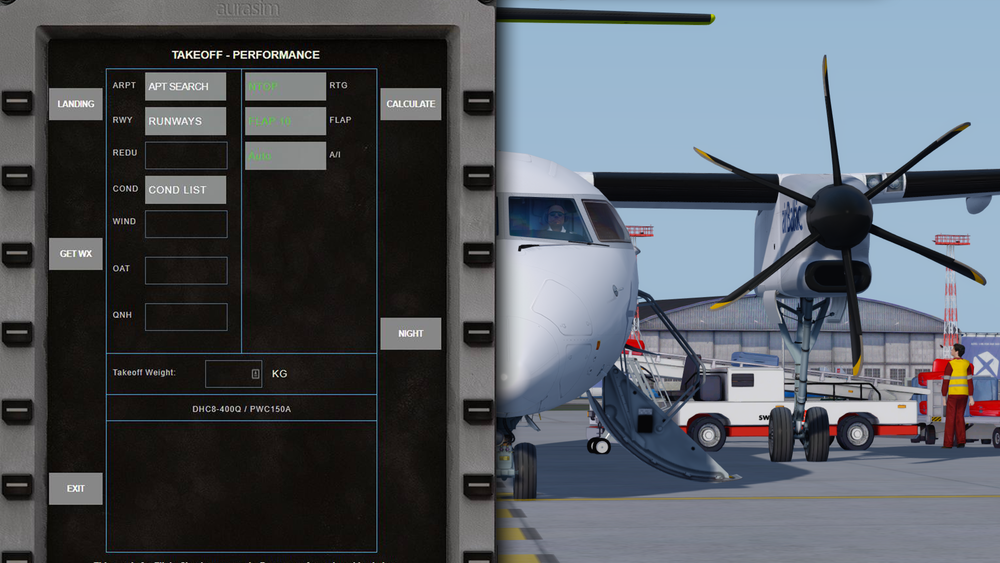 Aurasim: Q400 Take-Off Calculator -