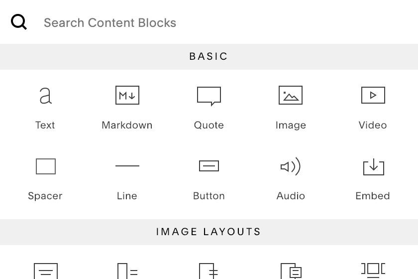 Adding a Content Block to a Squarespace Page — E2A Studio