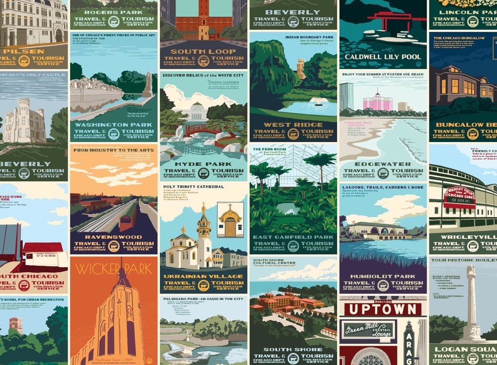 Neighborhood Tourism Print Series - Learn more about the history of the WPA's Federal Art Project, the beginnings of the Neighborhood Tourism Print Series, and suggest a neighborhood to be included in the series.