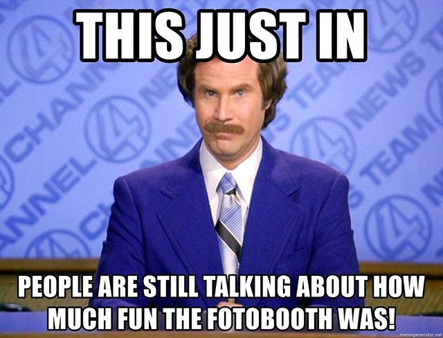 """BREAKING NEWS! """"Caaaaanon Baaaaaaalllll!"""" Take the leap, book our fotobooth for your event today, link in bio, we guarantee you will be happy you did. #noregrets #yolo #victoriaevents #fotobooth #photobooth #offthewallfotobooth #partyrental #props #yyj #vanisleevents #vancouverisland #weddings #parties #partys #sweetsixteen #clientappreciationparty #grandopening #conference #burgundy"""