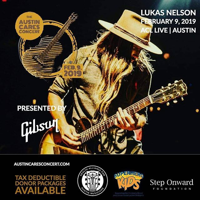 We just released 50 additional premium floor seats for the #austincaresconcert @acllive on Feb. 9th.  Buy these seats or a Donor Package at www.austincaresconcert.com.  The first 100 premium seats sold out in a week, before we even announced @lukasnelsonofficial, buy your seats today for this incredible night!  See you there. . (Live ticket and info link in bio.) . Supporting @myhaam, @superherokids and #steponwardfoundation. . #concerts4austincharities #lukasnelson #gibson #superherokids #steponwardfoundation #music #artist #musician #musicislife #band #singer #vocalist #livemusic #songwriter #indiemusic #freemusic #instagood #lovethissong #favoritesong #bestsong #photooftheday #listentothis #goodmusic #instamusic #virmedius #musicforcharity @love.austintexas @gingerleighband #atx #acllive #lukasnelson #atxlivemusic