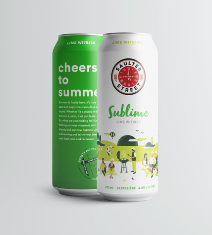 Summer Beer / Sublime : Lime Witbier - Summer is finally here. It's time to kick back and enjoy the warm days and long nights. Whether it's a picnic in the park or pints on a patio, it all just feels… sublime. So, what are you waiting for? Enjoy these fleeting summer moments with good friends and our new Sublime Lime Wit; a refreshing and tart wheat beer brewed with fresh lime and coriander.