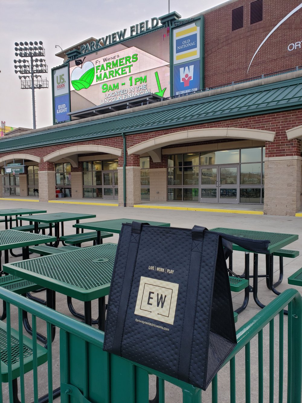 Stop by any of our Saturday Markets and get a new bag highlighting our ongoing partnership with Electric Works