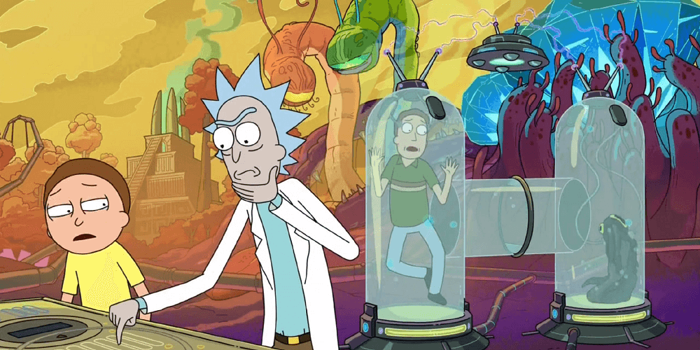 Intro sequence,  Rick and Morty.  Adult Swim. 2015.