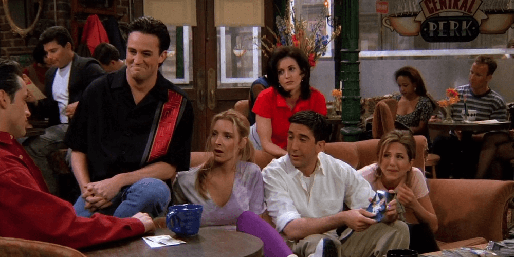 """The One Where Rachel Finds Out"",  F.R.I.E.N.D.S.  NBC. 1995."