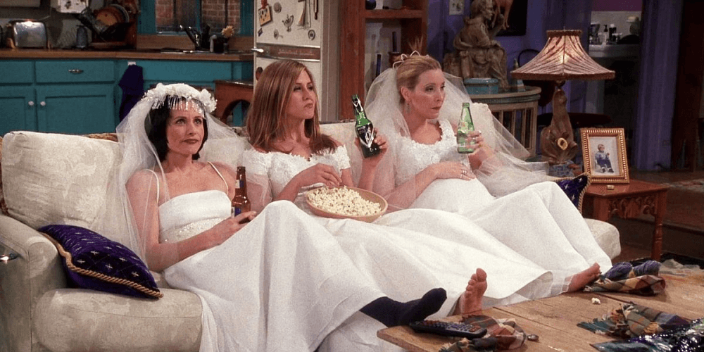 """The One With the Wedding Dresses"",  F.R.I.E.N.D.S.  NBC. 1998."