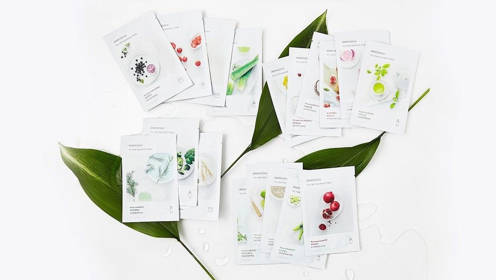 Innisfree New My Real Squeeze Sheet Mask Total (18 Sheets) - Photo courtesy of eBay.