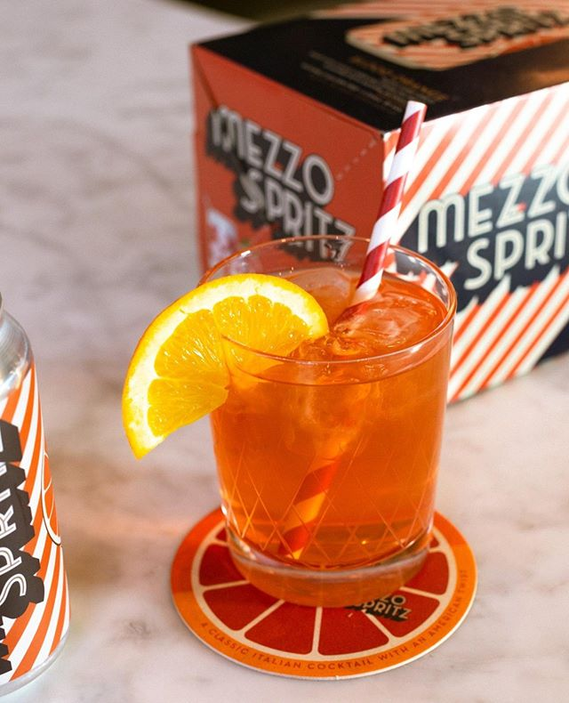 Mezzo Spritz makes a great cocktail. Add your favorite spirit, and serve over ice with a slice of citrus and a paper straw. One of the three ways to #spritzzatura.