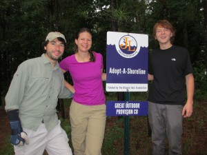 Chad (L) is manager of the Chapel Hill store and Aubrey (C) and Mike (R) are members of his staff.