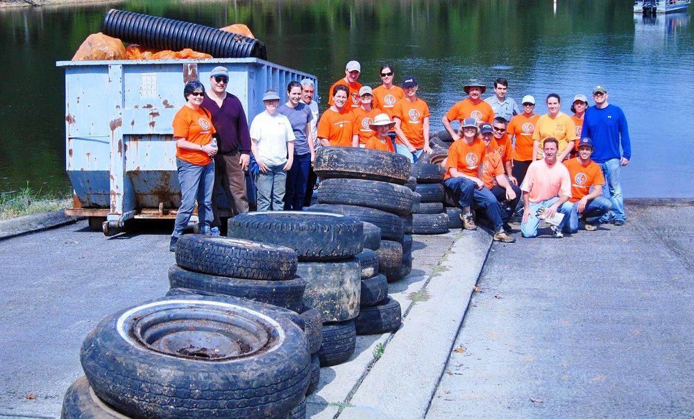 Clean Jordan Lake Welcomes group cleanup events at any time during the year. -