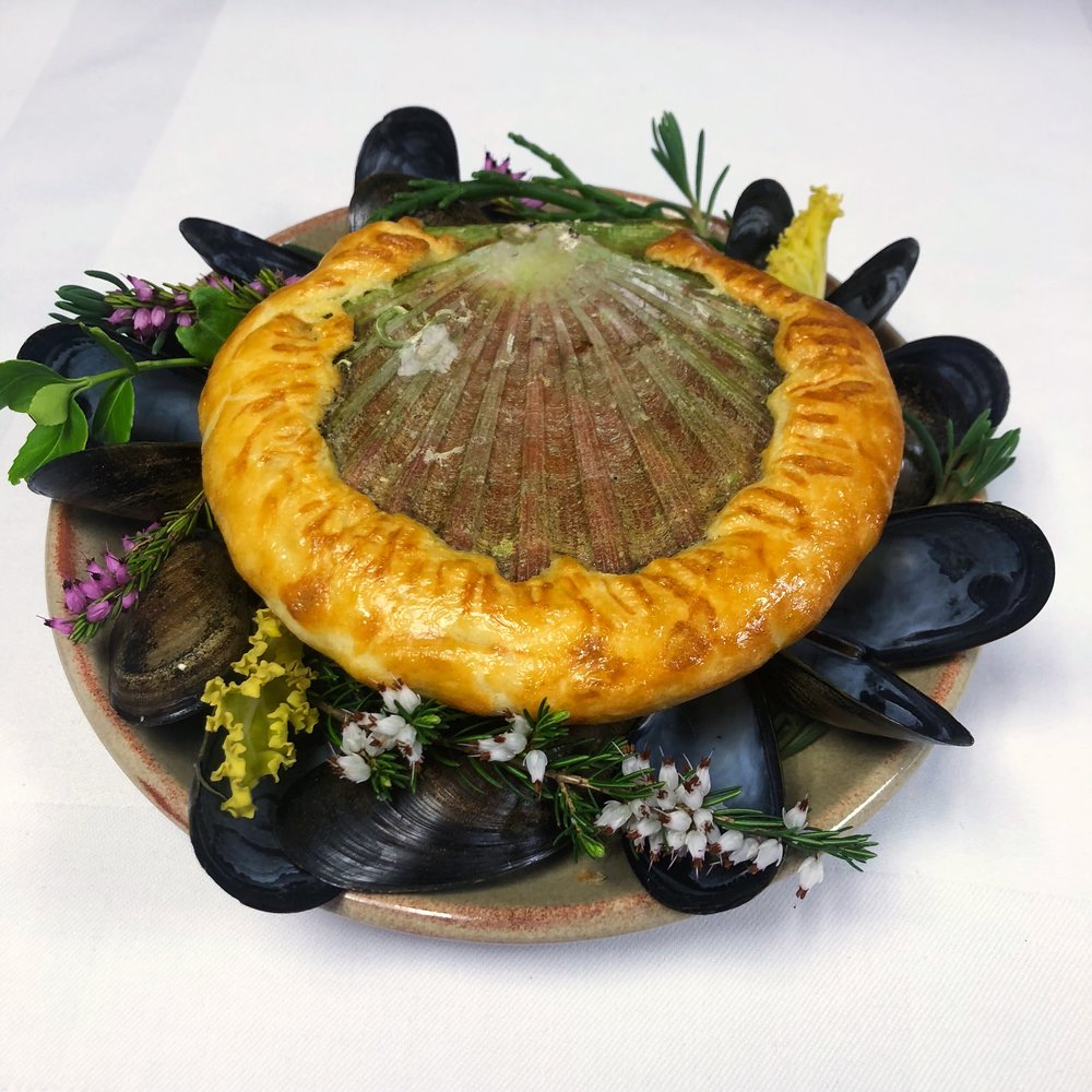 baked Orkney scallops