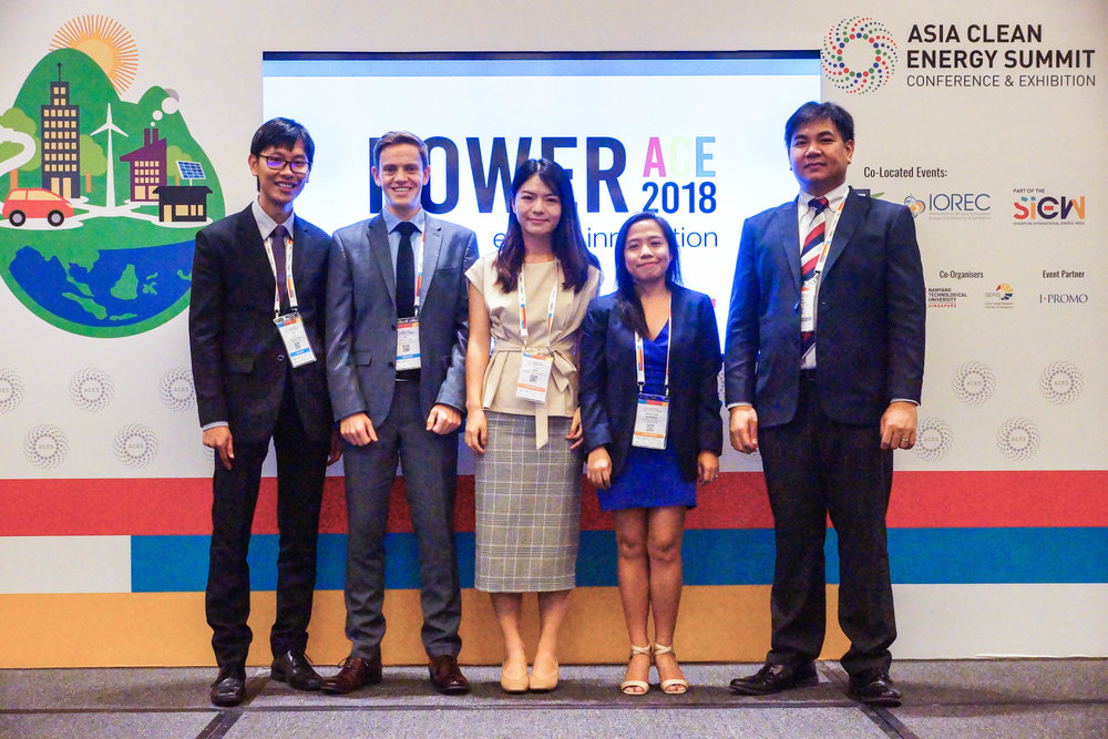 The Managing Director of Oceantera with the representatives of the marine energy sector during the launch of a White Paper entitled,   Marine Renewable Energy in Singapore: Realising the Opportunities  ,  at ACES 2018. Oceantera is one of the major contibutors to the White Paper collaborating with the Sustainable Energy Association of Singapore (SEAS).