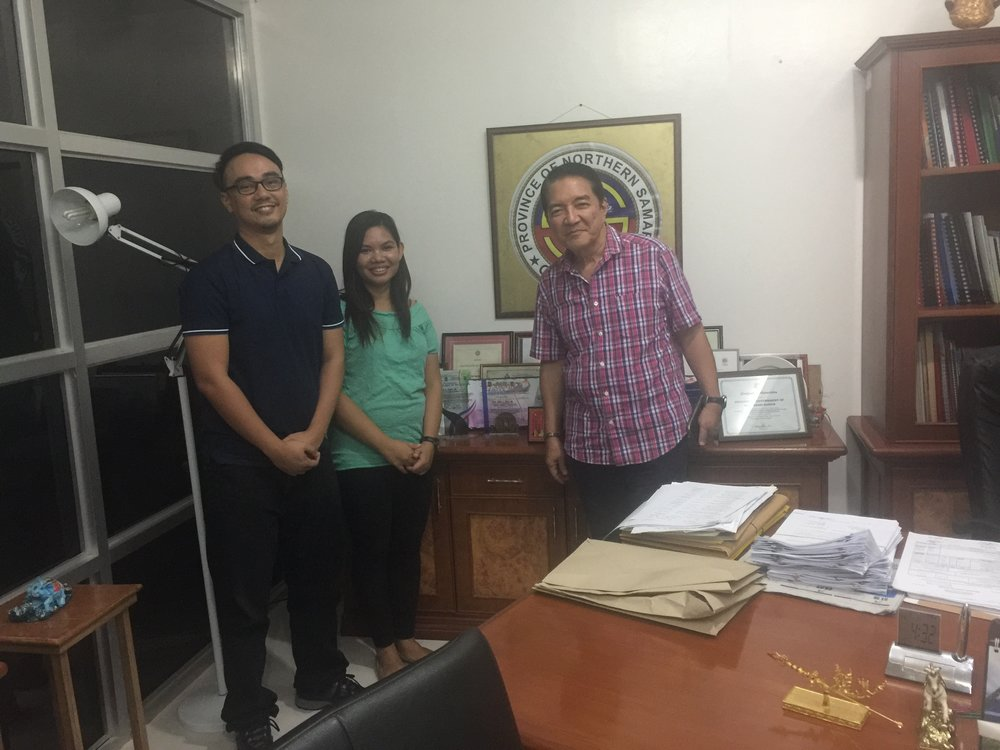 Oceantera meeting the Provincial Governor of Northern Samar to inform him about the development works undertaken by the company in the province.