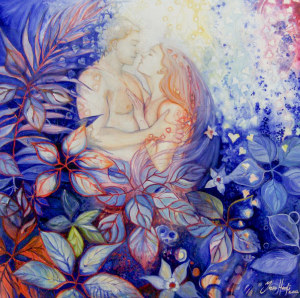 In-the-garden-of-Paradise-100x100-cm-oil-on-canvas-by-Ines-Honfi.jpg