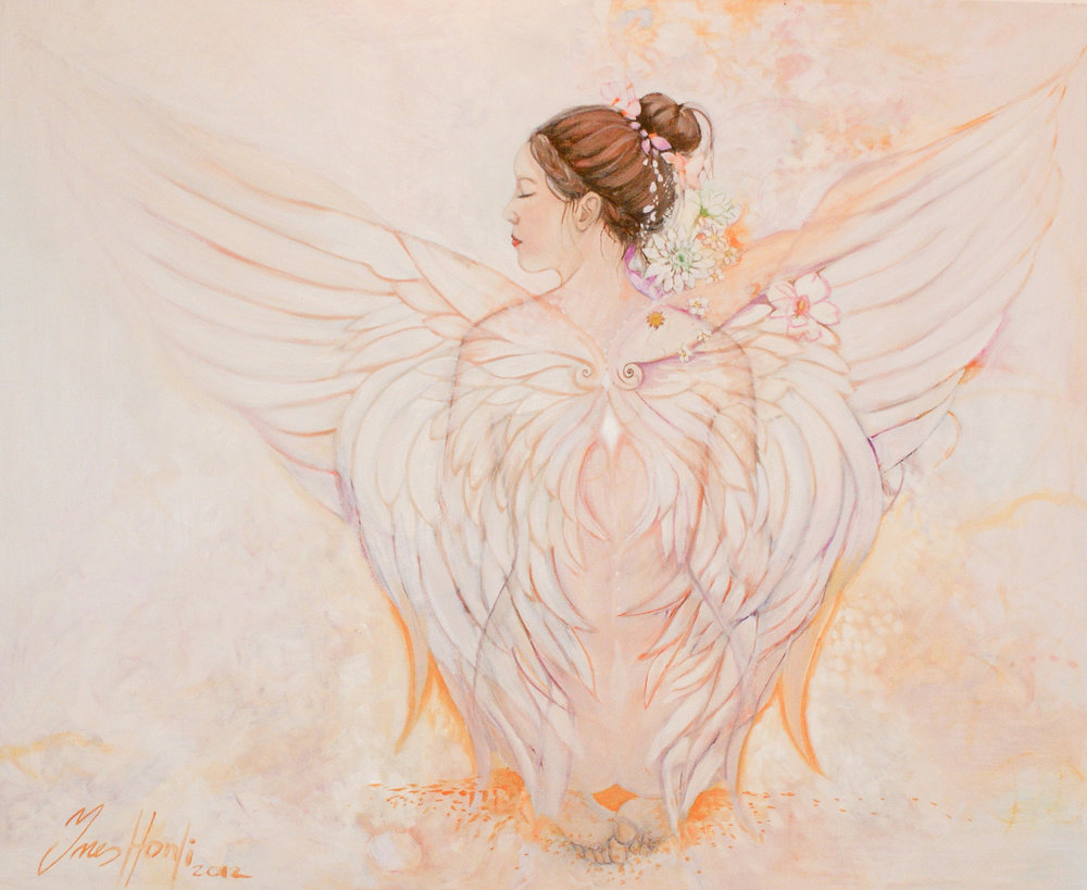 Angel oil on canvas 100x120 cm.