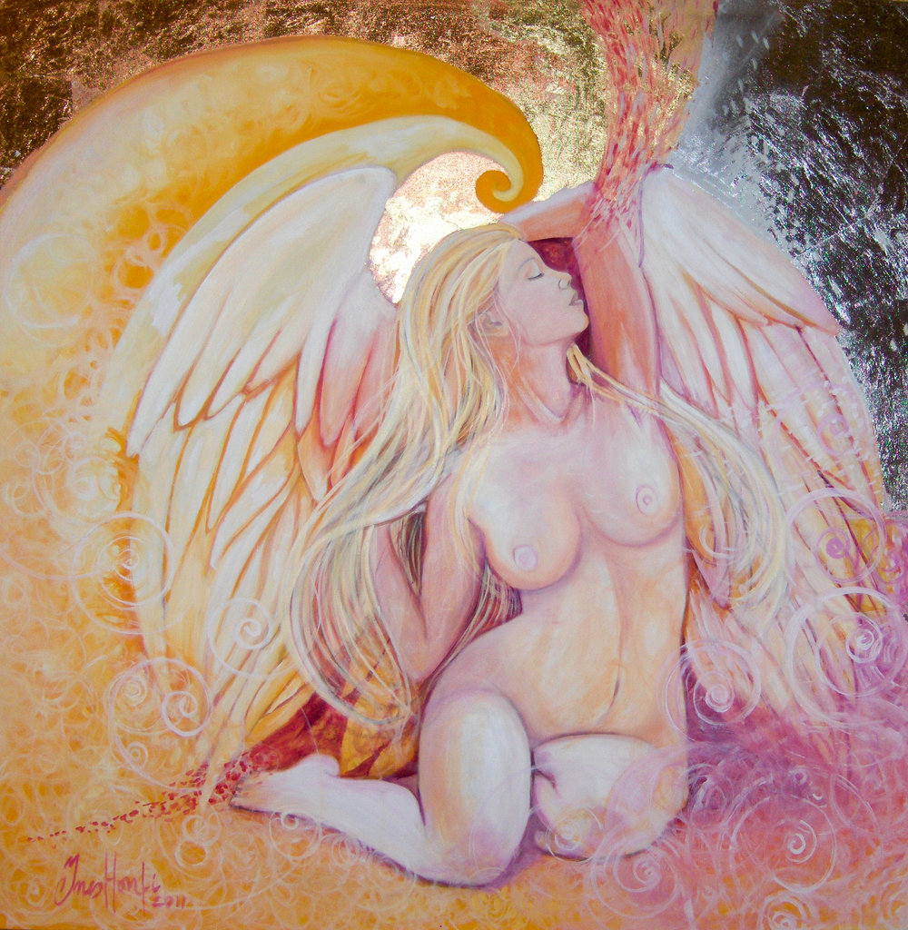 Angel 120x120 cm oil on canvas.