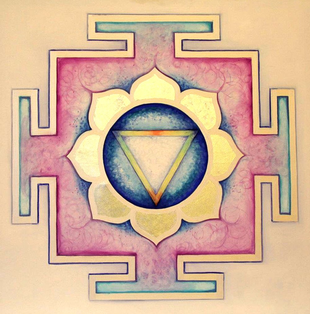 Yantra of the Great Cosmic Power Tara, oil on canvas, 100x100 cm (see full image in Gallery)