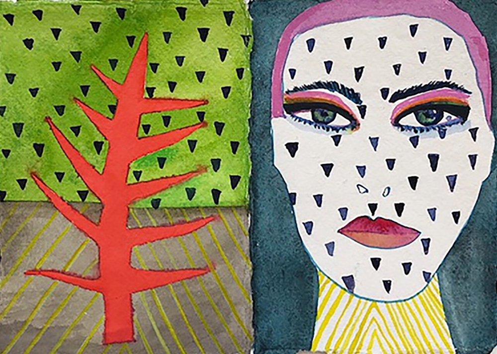 spiky tree + tattoo