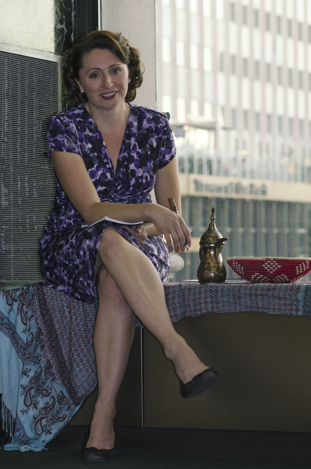 Author Photo Taken By Victoria Shapow at the Chicago Cultural Center