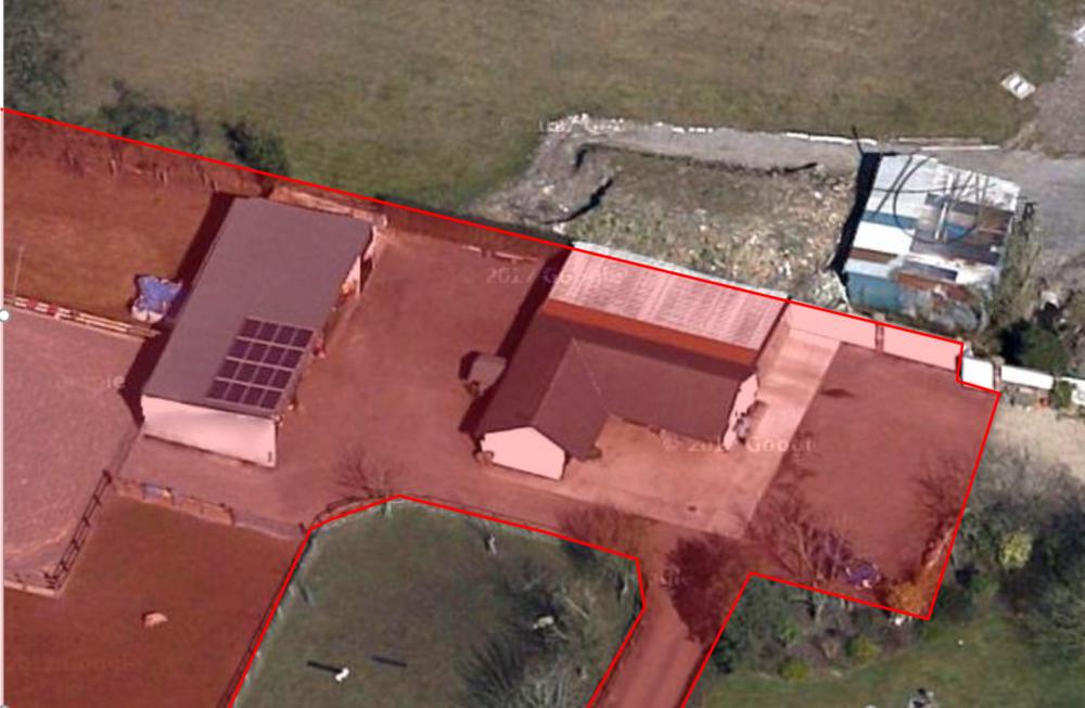 Aerial photo of site