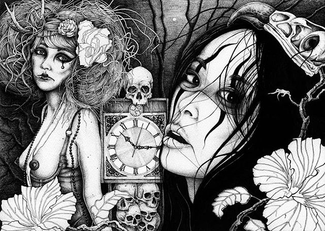 #throwbackthursday Some darker drawings from way back when. The Way Time Takes Your Life Away. Broken Together. The Little Ones. .. .. . . . #tbt #penfreaks #penandink #inkonpaper #inkdrawing #instaart #darkart #londonart #macabre #horrorart #inkart #inklouvre #lineart #penonpaper #karltrewhela #sketchbook #sketch #doodle