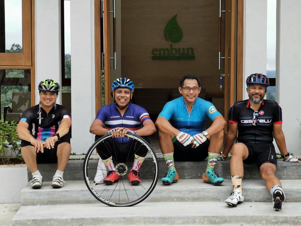 Kamal and cyclists at Lobby.jpg