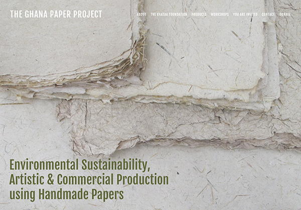 Website of The Ghana Paper Project from the Krataa Foundation